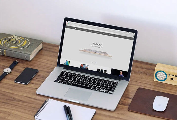 Macbook Workspace Mockup