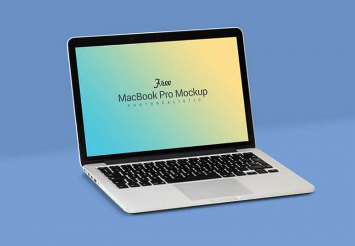 Fully Customizable Apple Macbook PSD