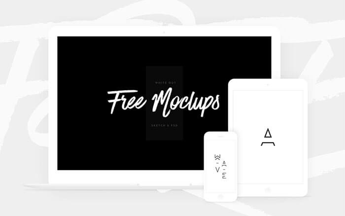 White Devices Mockups (Sketch & PSD)