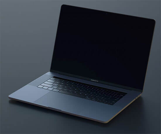 Space-Gray MacBook