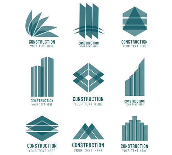 Abstract Construction Logos