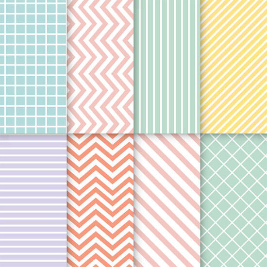 Pastel Mixed Seamless Vectorset