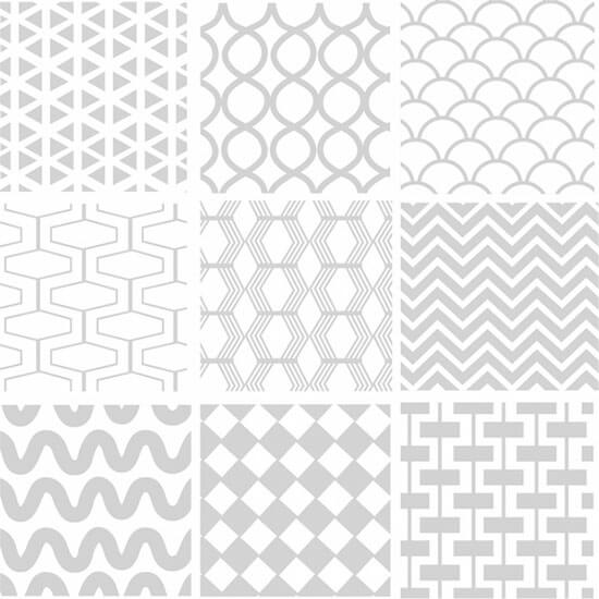 Seamless Geometric White Pattern