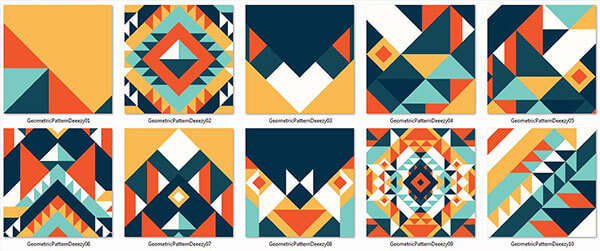 10 Colorful Geometric Patterns