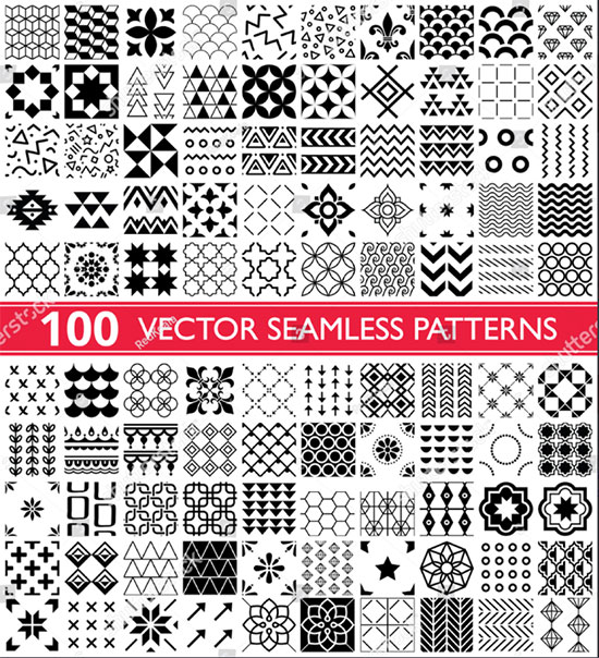 100 Vector Collection Geometric