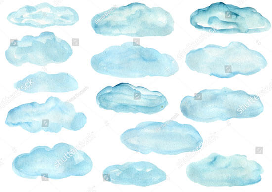 Clouds Painted by Watercolor