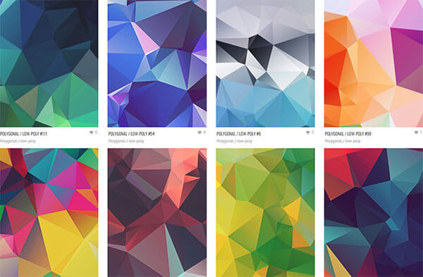 30 Free Polygonal/Low-Poly Textures