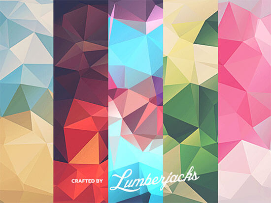 10 Low-poly Polygonal Textures