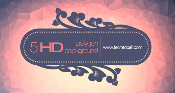 5 HD Polygon Background Package