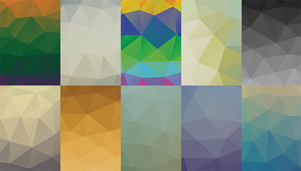 Awersome Low-poly PSD Backgrounds