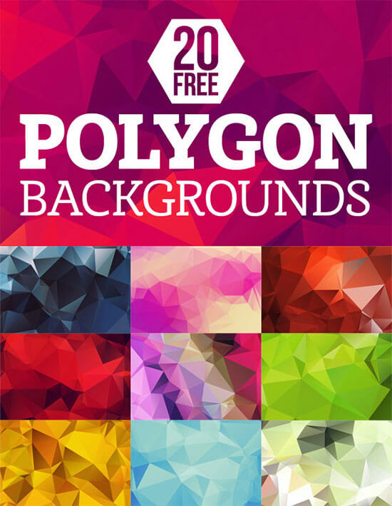 20 Free High-Res Geometric Backgrounds