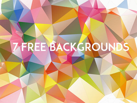 7 Low Poly Backgrounds (svg & png)