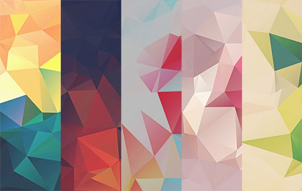 Low-Poly Polygonal Texture