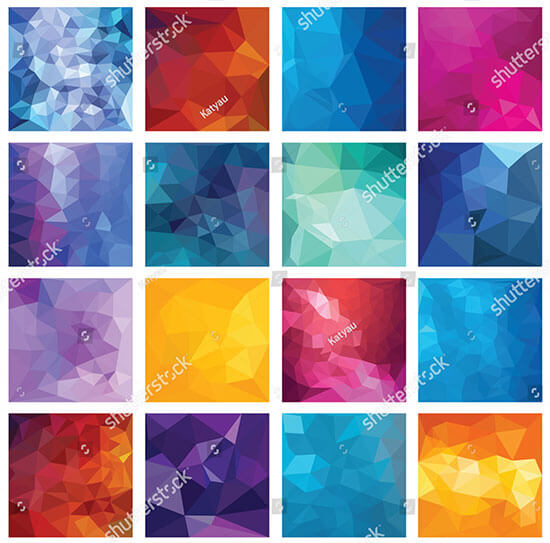 Abstract Geometric Backgrounds Vector Design