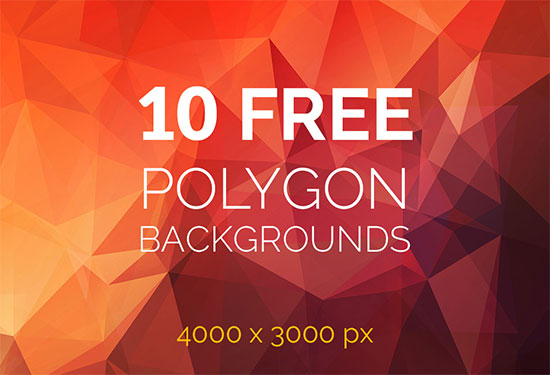 10 Free Polygon Backgrounds 4000x3000px